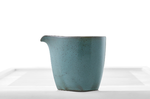 Speckled Bluish-Gray Glazed Oblong Tea Pitcher (Cha Hai)