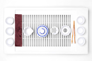 Blue And White Tea Set For Traditional Chinese Tea Ceremony